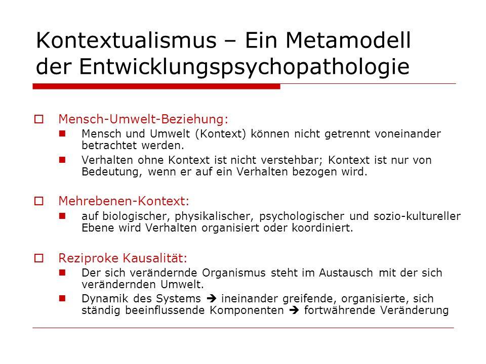 Kontextualismus – Ein Metamodell der Entwicklungspsychopathologie