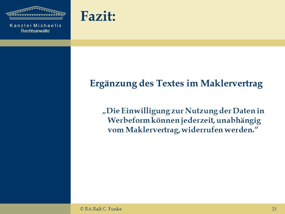 Ergänzung des Textes im Maklervertrag