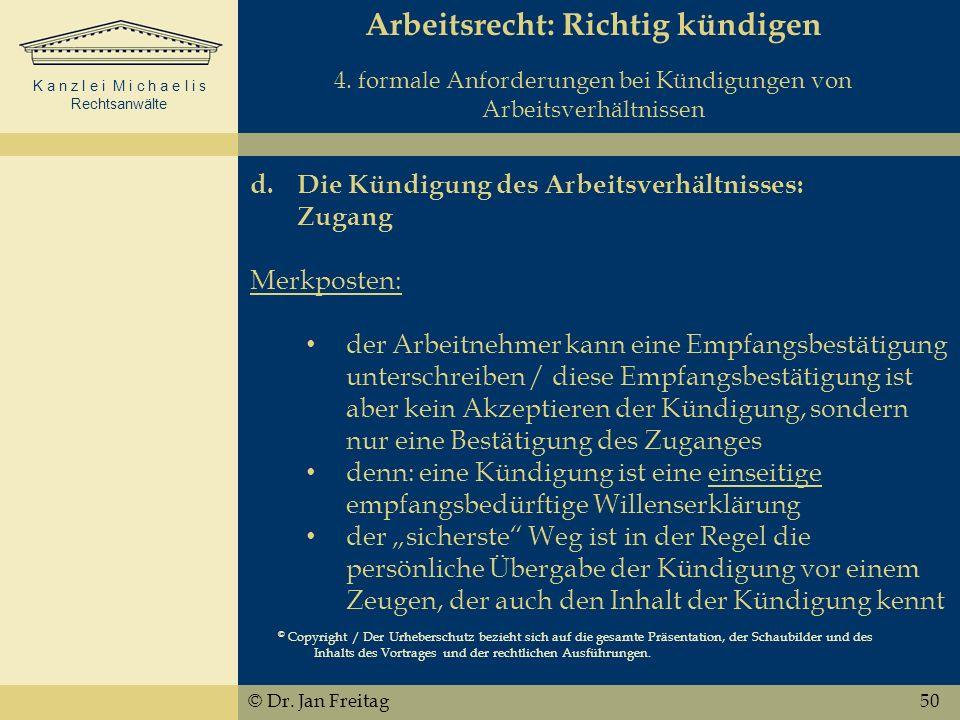 Arbeitsrecht: Richtig kündigen 4
