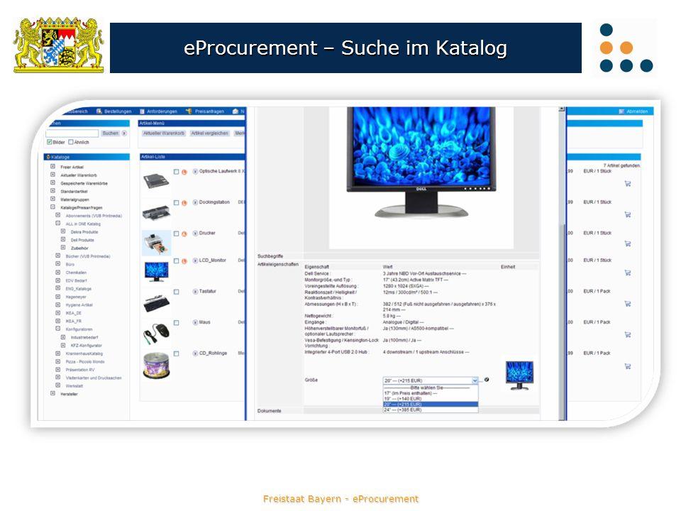 eProcurement – Suche im Katalog
