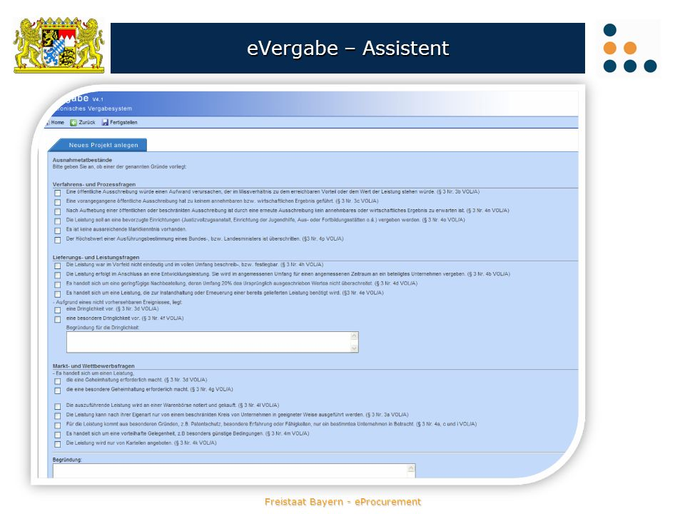 eVergabe – Assistent