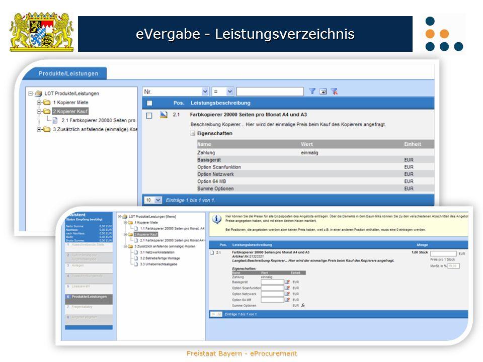eVergabe - Leistungsverzeichnis