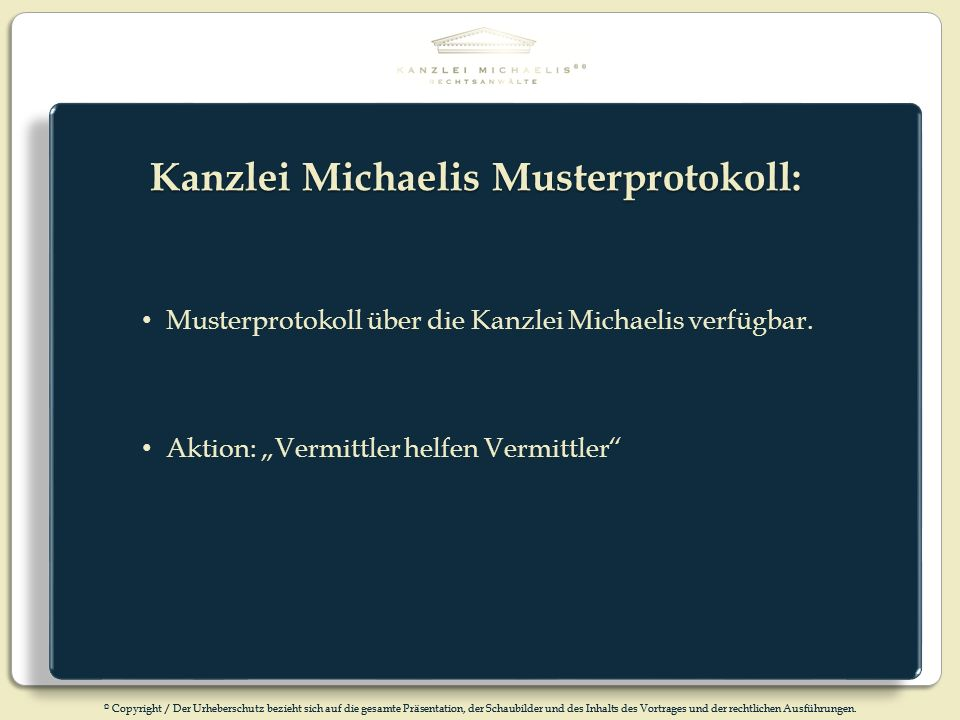 Kanzlei Michaelis Musterprotokoll: