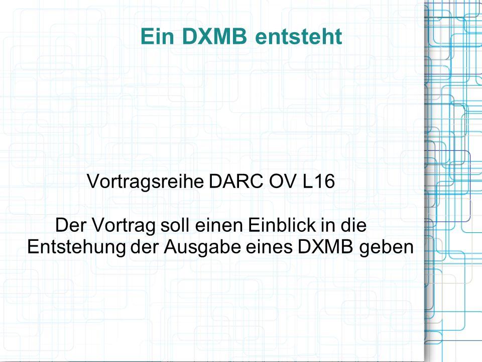 Vortragsreihe DARC OV L16