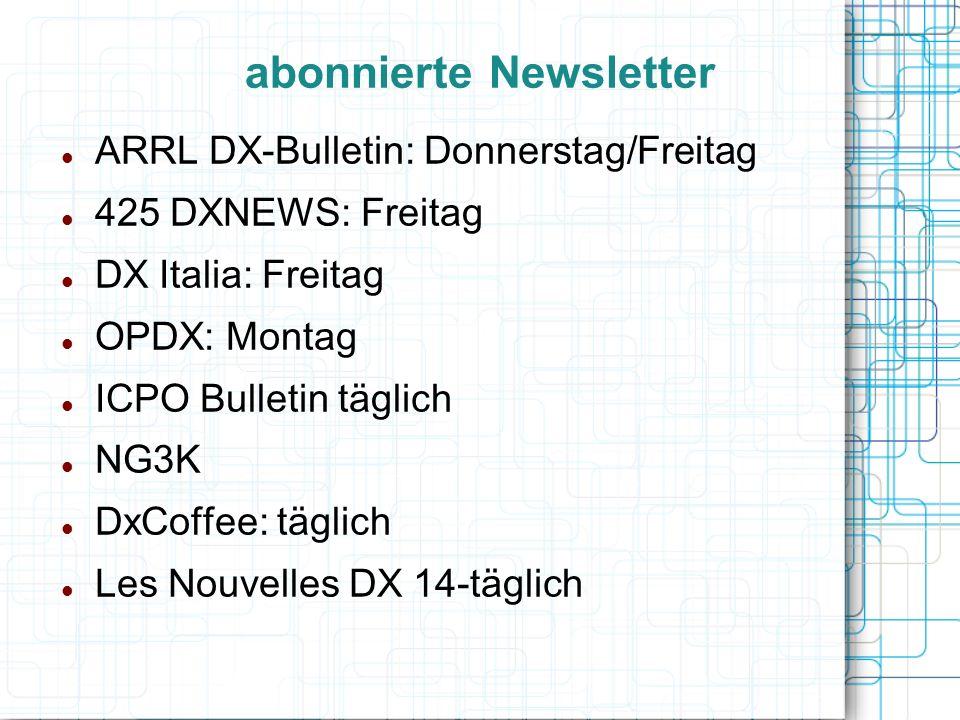 abonnierte Newsletter