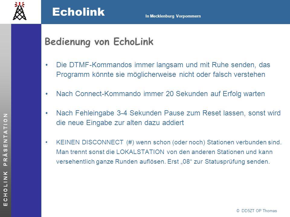 Bedienung von EchoLink