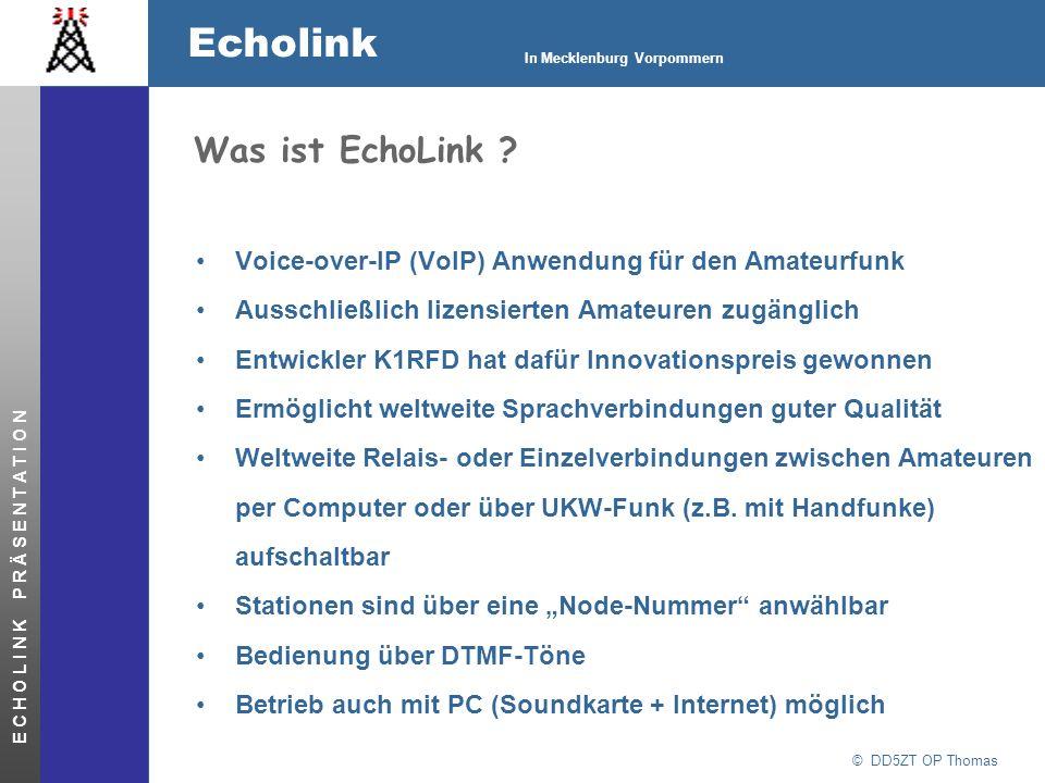 Was ist EchoLink Voice-over-IP (VoIP) Anwendung für den Amateurfunk