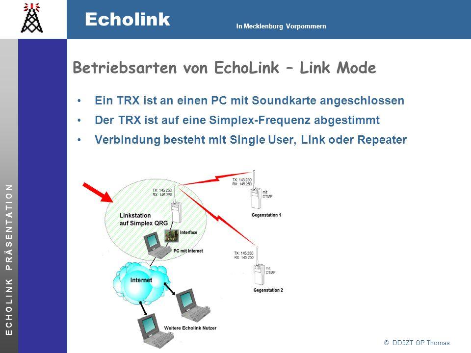 Betriebsarten von EchoLink – Link Mode