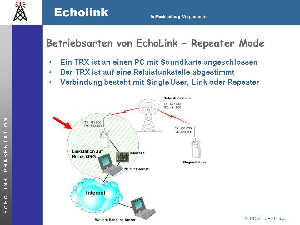 Betriebsarten von EchoLink – Repeater Mode