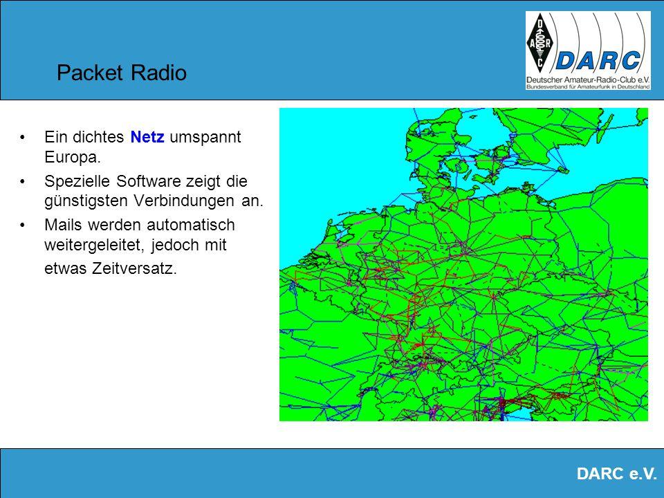 Packet Radio Ein dichtes Netz umspannt Europa.