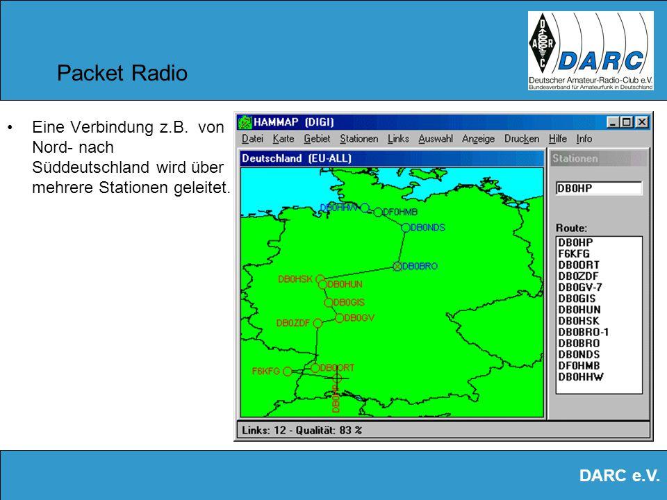 Packet Radio Eine Verbindung z.B.