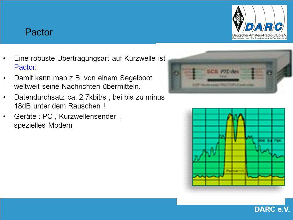 Pactor Eine robuste Übertragungsart auf Kurzwelle ist Pactor.