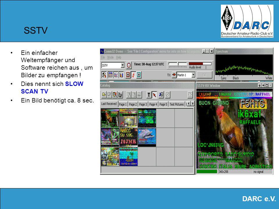 SSTV Ein einfacher Weltempfänger und Software reichen aus , um Bilder zu empfangen ! Dies nennt sich SLOW SCAN TV.