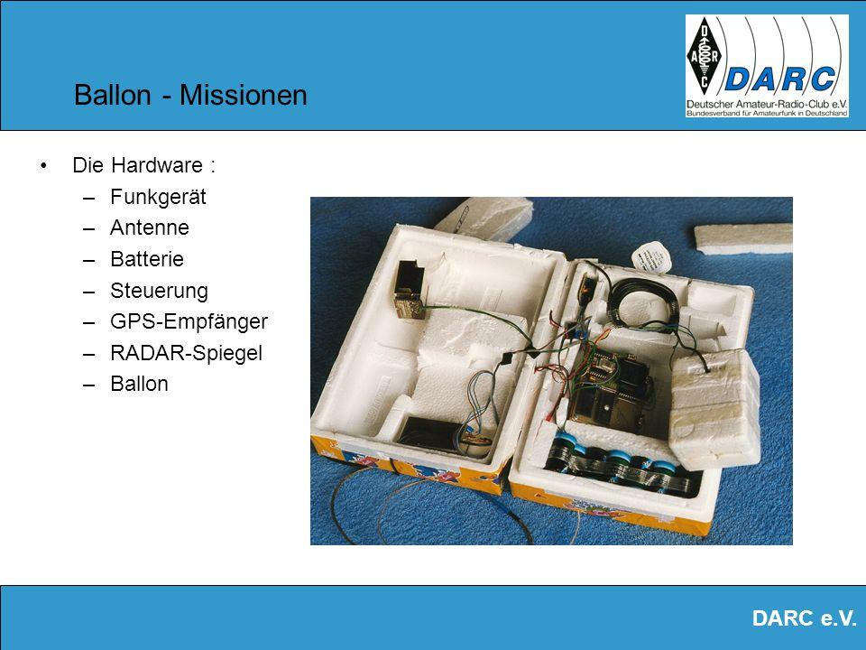 Ballon - Missionen Die Hardware : Funkgerät Antenne Batterie Steuerung