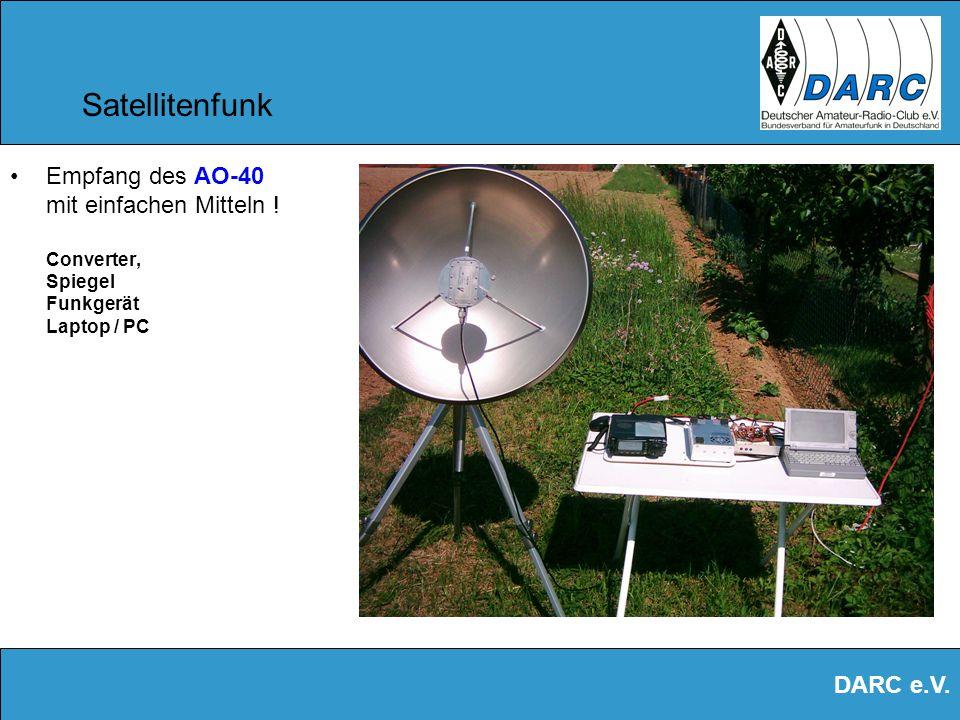 Satellitenfunk Empfang des AO-40 mit einfachen Mitteln ! Converter, Spiegel Funkgerät Laptop / PC