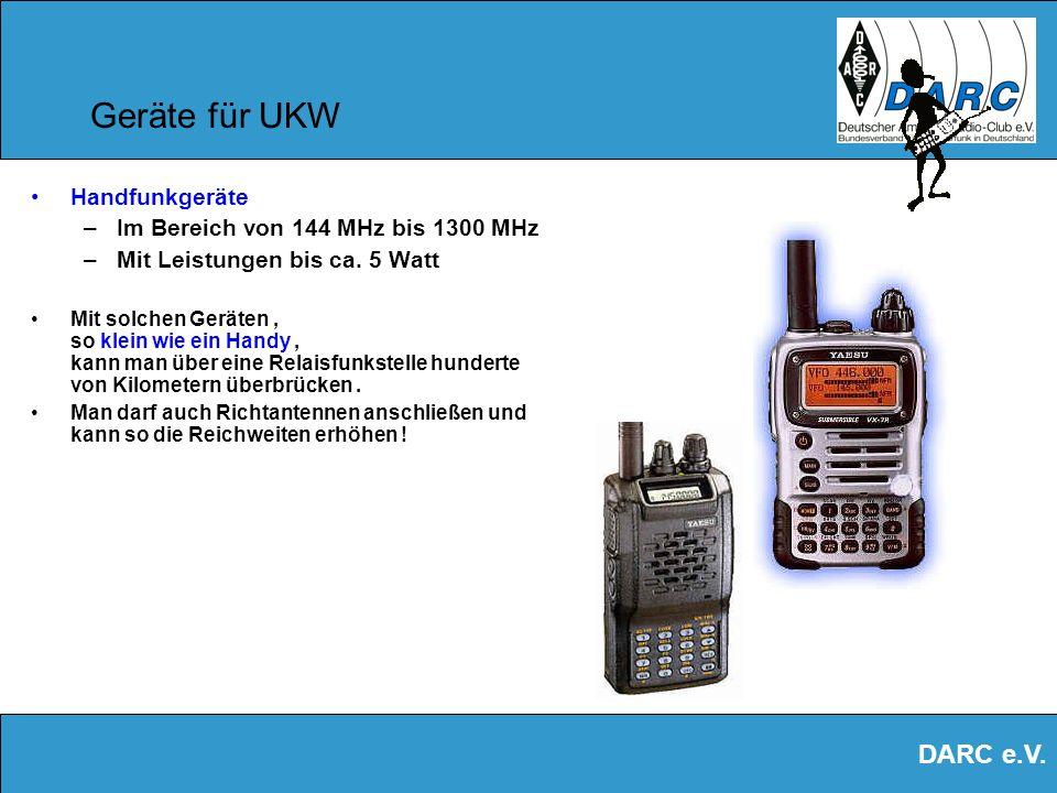 Geräte für UKW Handfunkgeräte Im Bereich von 144 MHz bis 1300 MHz