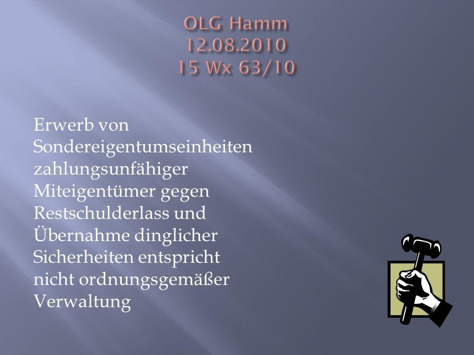 OLG Hamm 12.08.2010 15 Wx 63/10