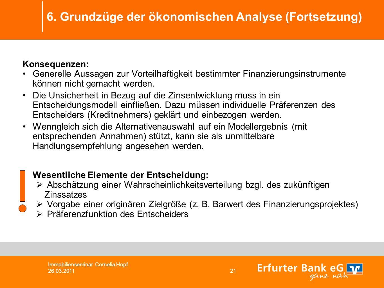 6. Grundzüge der ökonomischen Analyse (Fortsetzung)