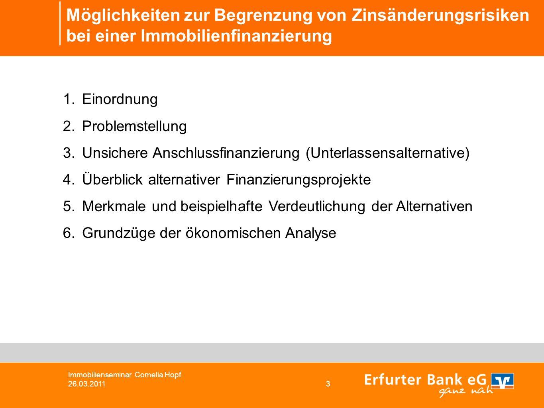 Möglichkeiten zur Begrenzung von Zinsänderungsrisiken bei einer Immobilienfinanzierung