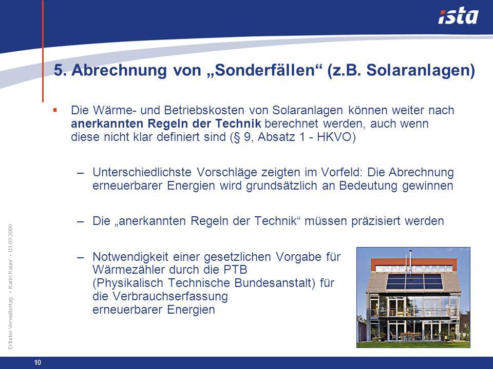 """5. Abrechnung von """"Sonderfällen (z.B. Solaranlagen)"""