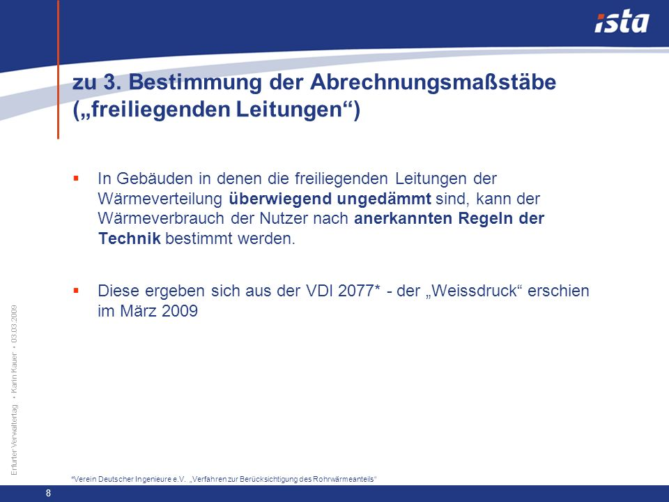 """zu 3. Bestimmung der Abrechnungsmaßstäbe (""""freiliegenden Leitungen )"""
