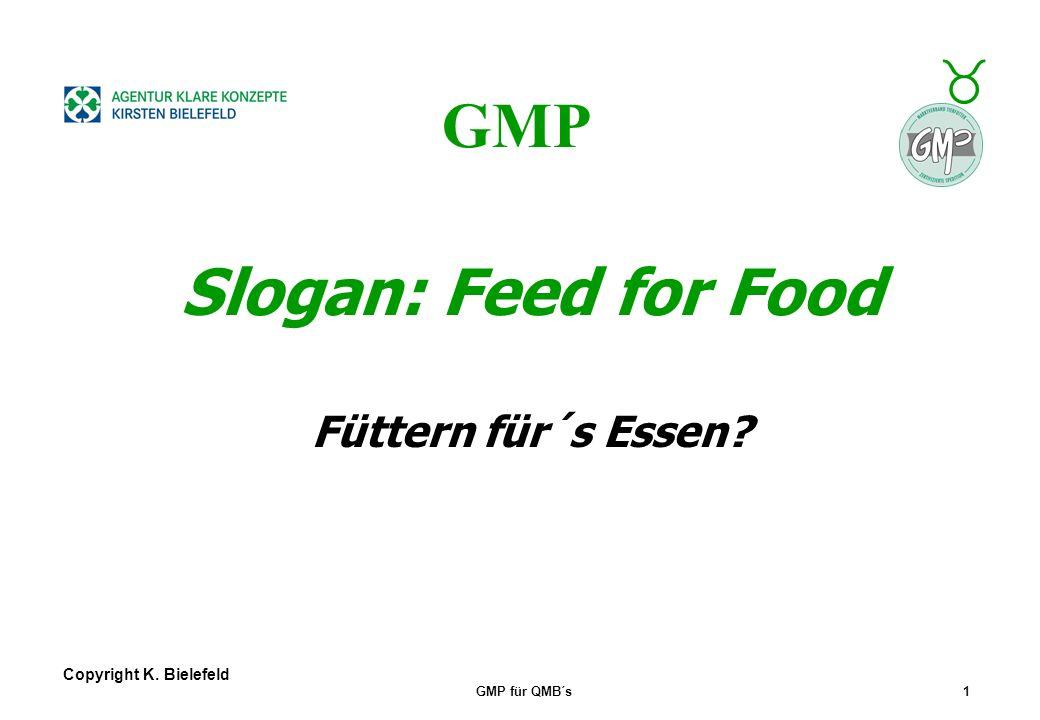 GMP Slogan: Feed for Food Füttern für´s Essen Copyright K. Bielefeld