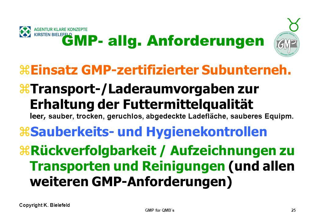 GMP- allg. Anforderungen