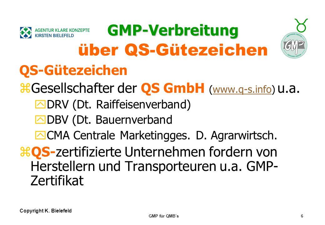GMP-Verbreitung über QS-Gütezeichen