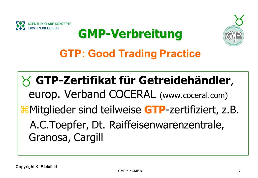 GTP: Good Trading Practice