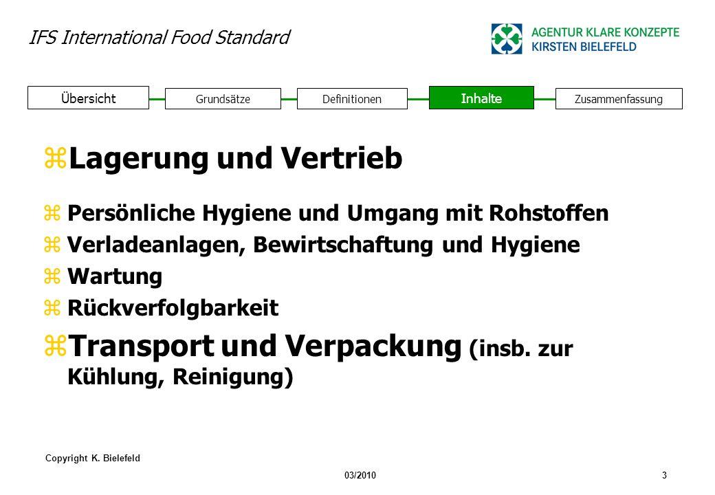 Transport und Verpackung (insb. zur Kühlung, Reinigung)