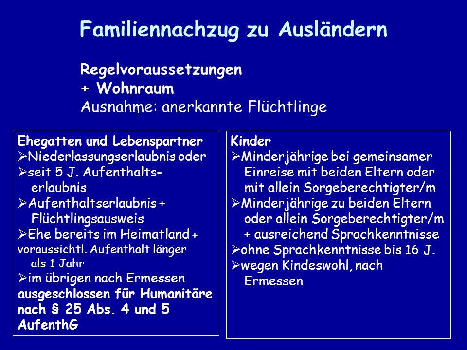 Familiennachzug zu Ausländern