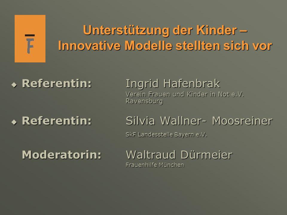 Unterstützung der Kinder – Innovative Modelle stellten sich vor