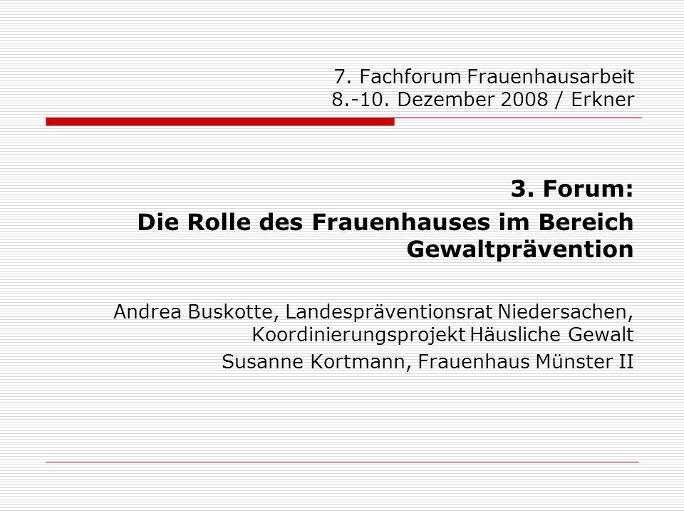 7. Fachforum Frauenhausarbeit 8.-10. Dezember 2008 / Erkner