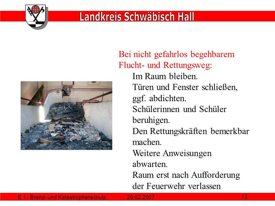 E 1 / Brand- und Katastrophenschutz
