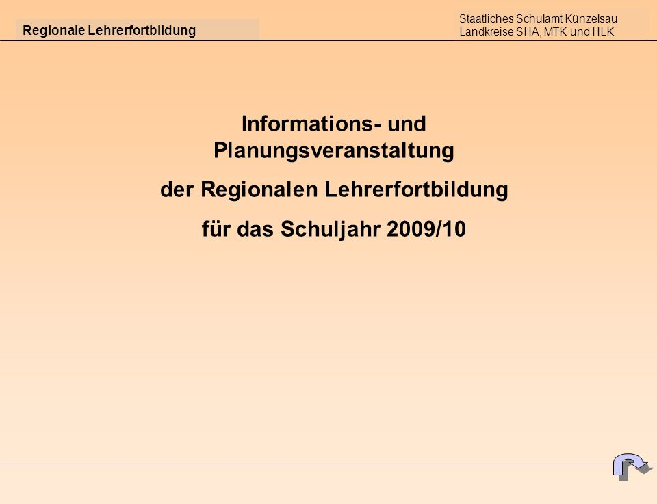 Informations- und Planungsveranstaltung