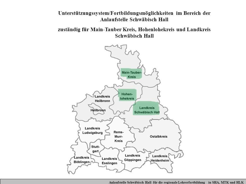 Unterstützungssystem/Fortbildungsmöglichkeiten im Bereich der Anlaufstelle Schwäbisch Hall