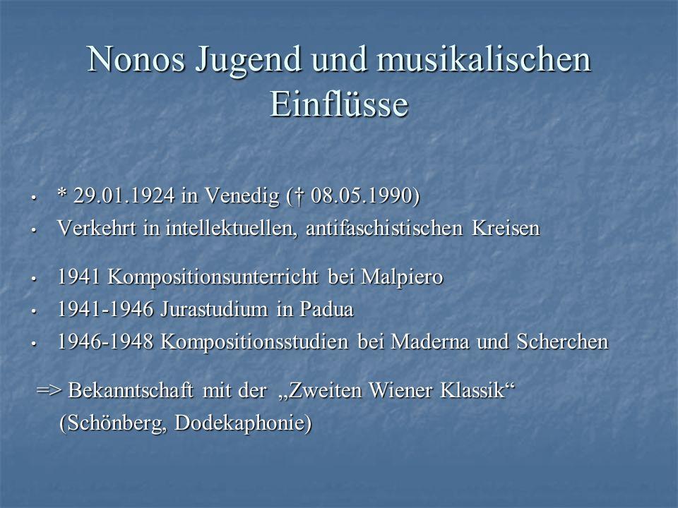 Nonos Jugend und musikalischen Einflüsse