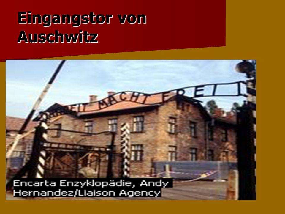Eingangstor von Auschwitz