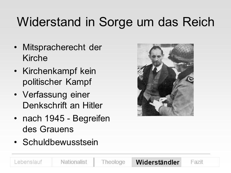 Widerstand in Sorge um das Reich