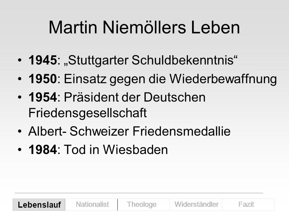 Martin Niemöllers Leben
