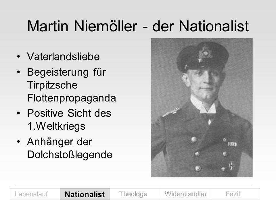 Martin Niemöller - der Nationalist