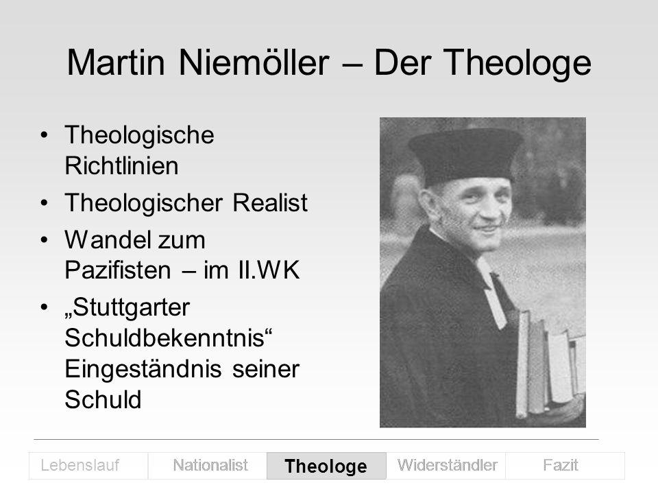 Martin Niemöller – Der Theologe