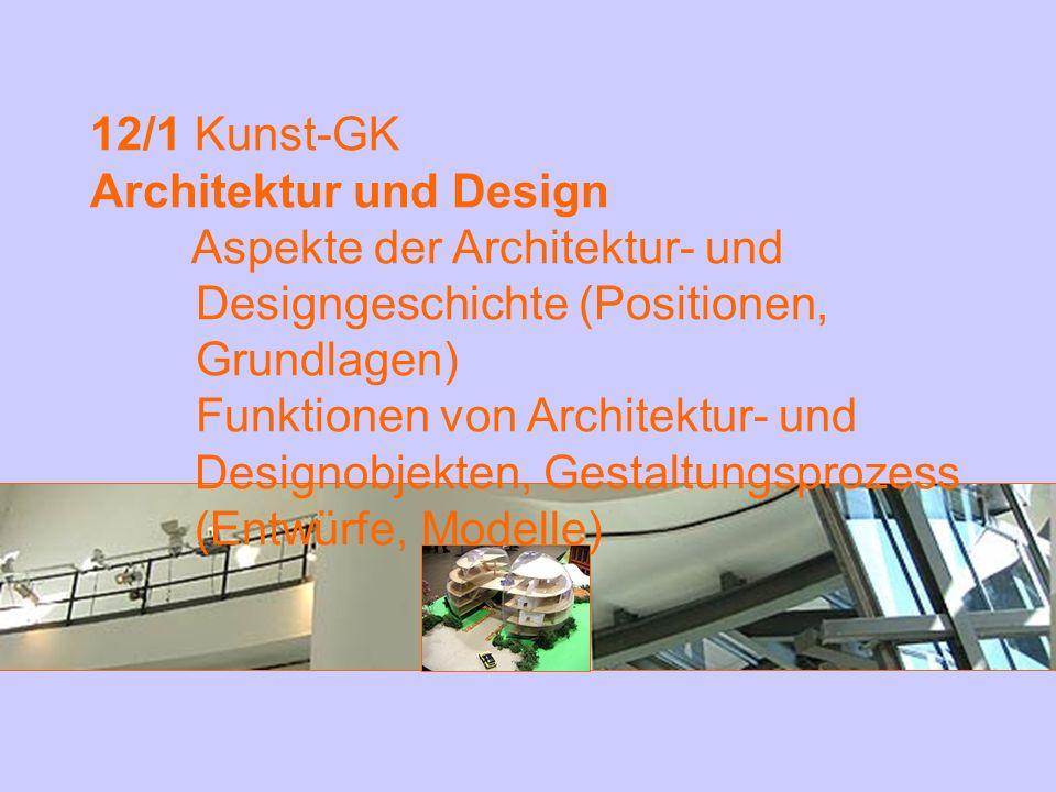 12/1 Kunst-GK Architektur und Design. Aspekte der Architektur- und Designgeschichte (Positionen, Grundlagen)