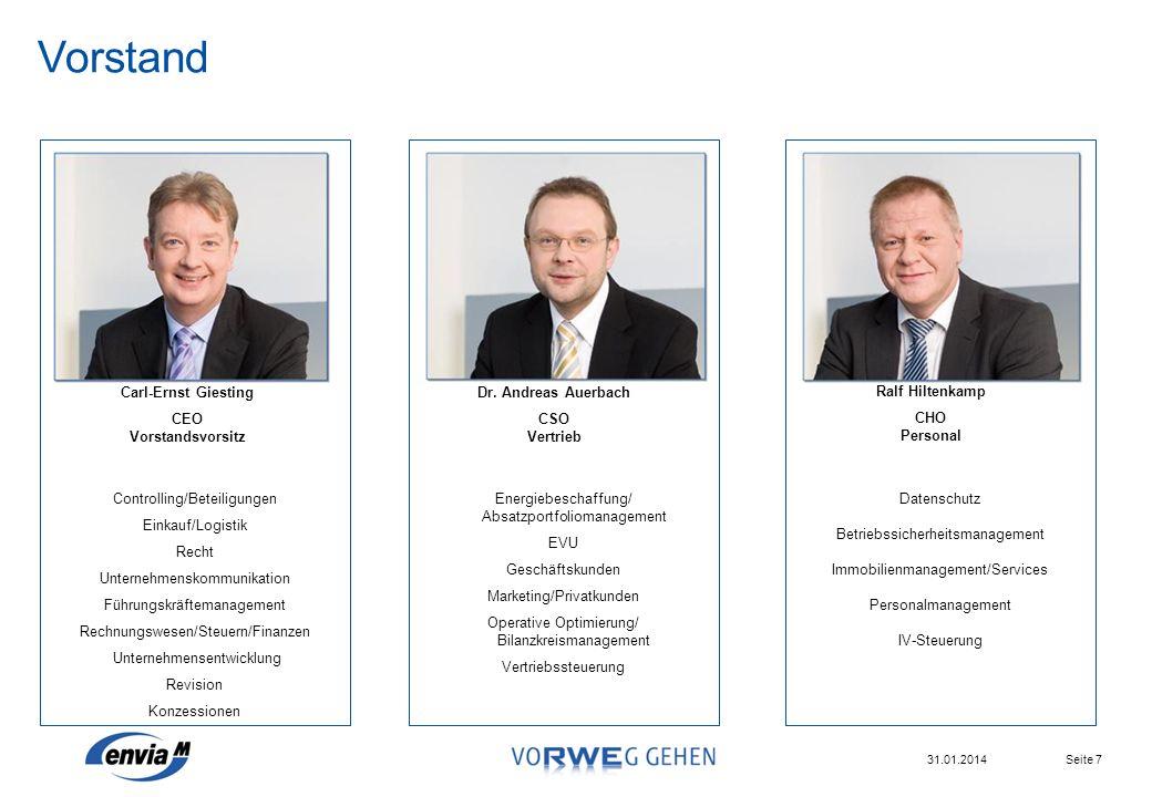 Vorstand Controlling/Beteiligungen Einkauf/Logistik Recht