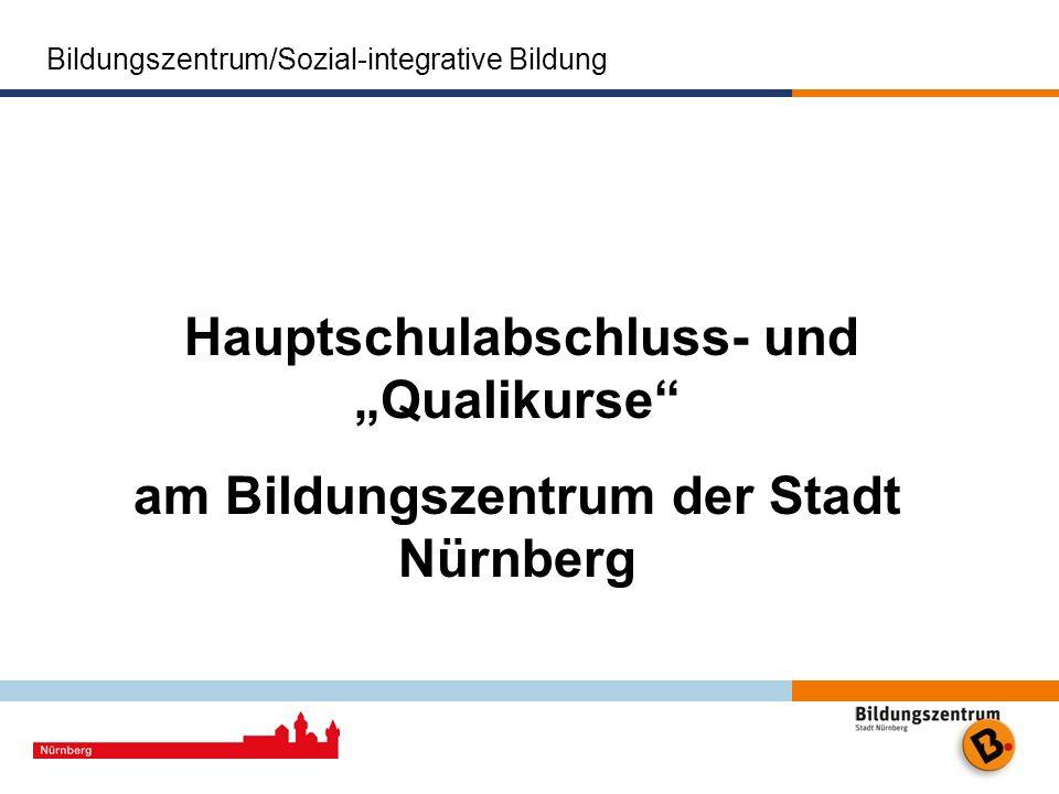 am Bildungszentrum der Stadt Nürnberg