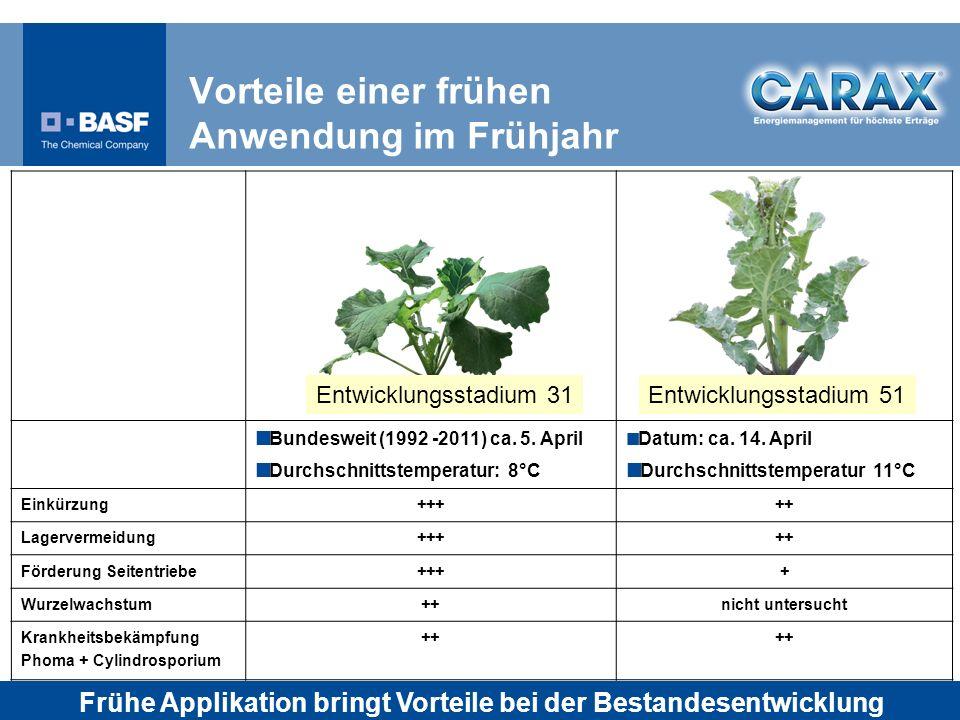 Vorteile einer frühen Anwendung im Frühjahr