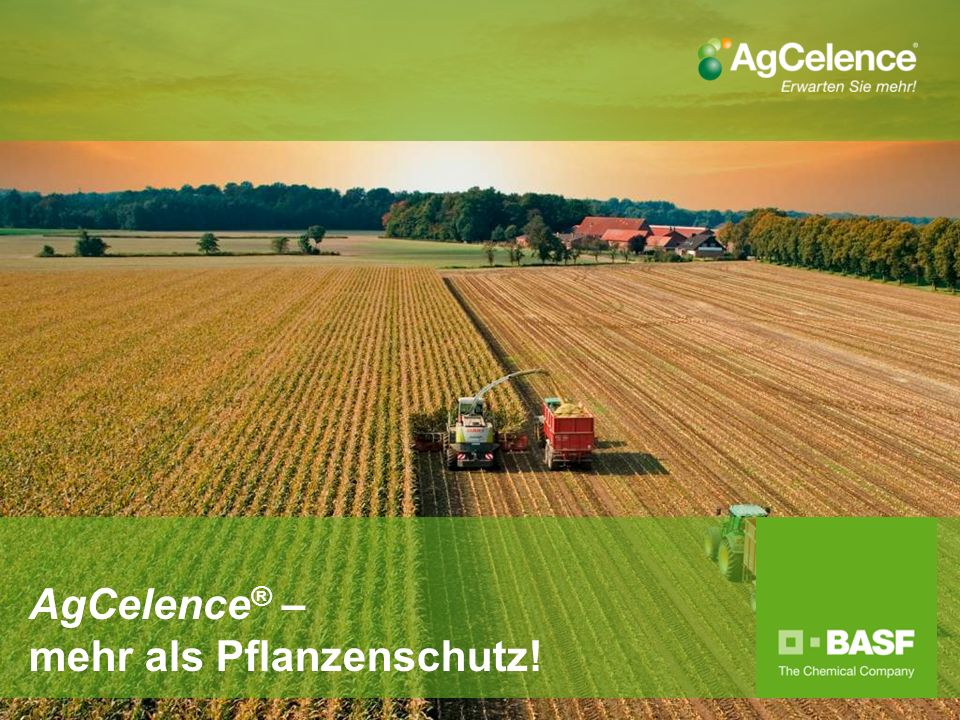 AgCelence® – mehr als Pflanzenschutz!