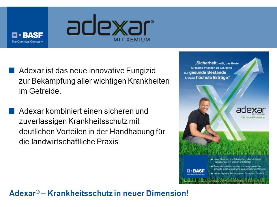 Adexar ist das neue innovative Fungizid