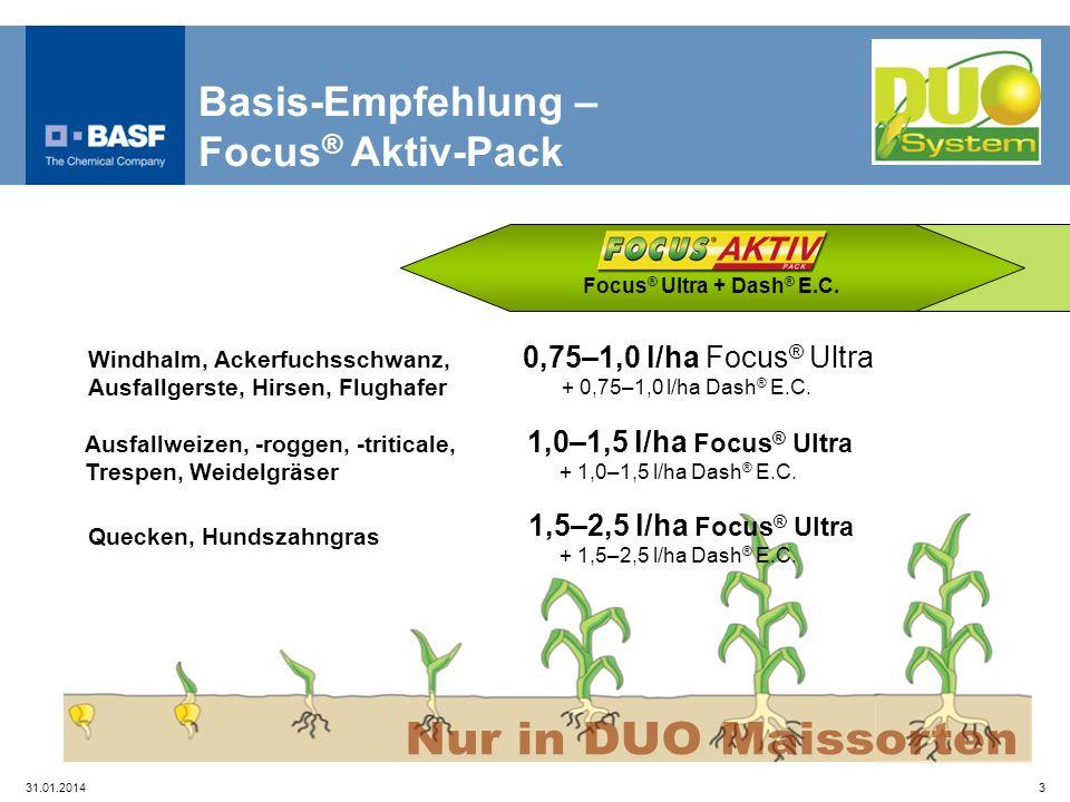 Nur in DUO Maissorten Basis-Empfehlung – Focus® Aktiv-Pack
