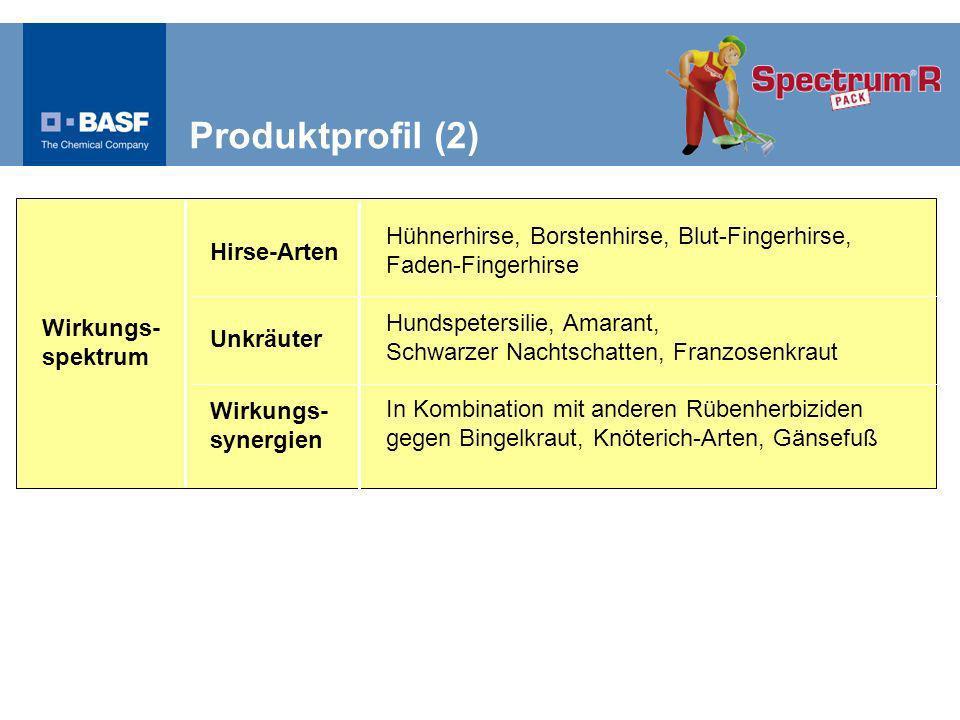 Produktprofil (2) Hühnerhirse, Borstenhirse, Blut-Fingerhirse, Faden-Fingerhirse.